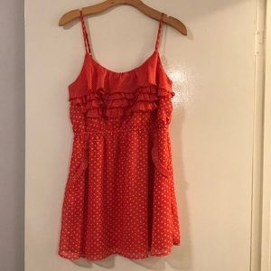 American rag size small women's red pink polka dot